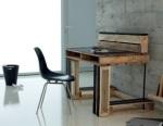 Bureau tendance réalisé à partir de palettes de bois recyclées